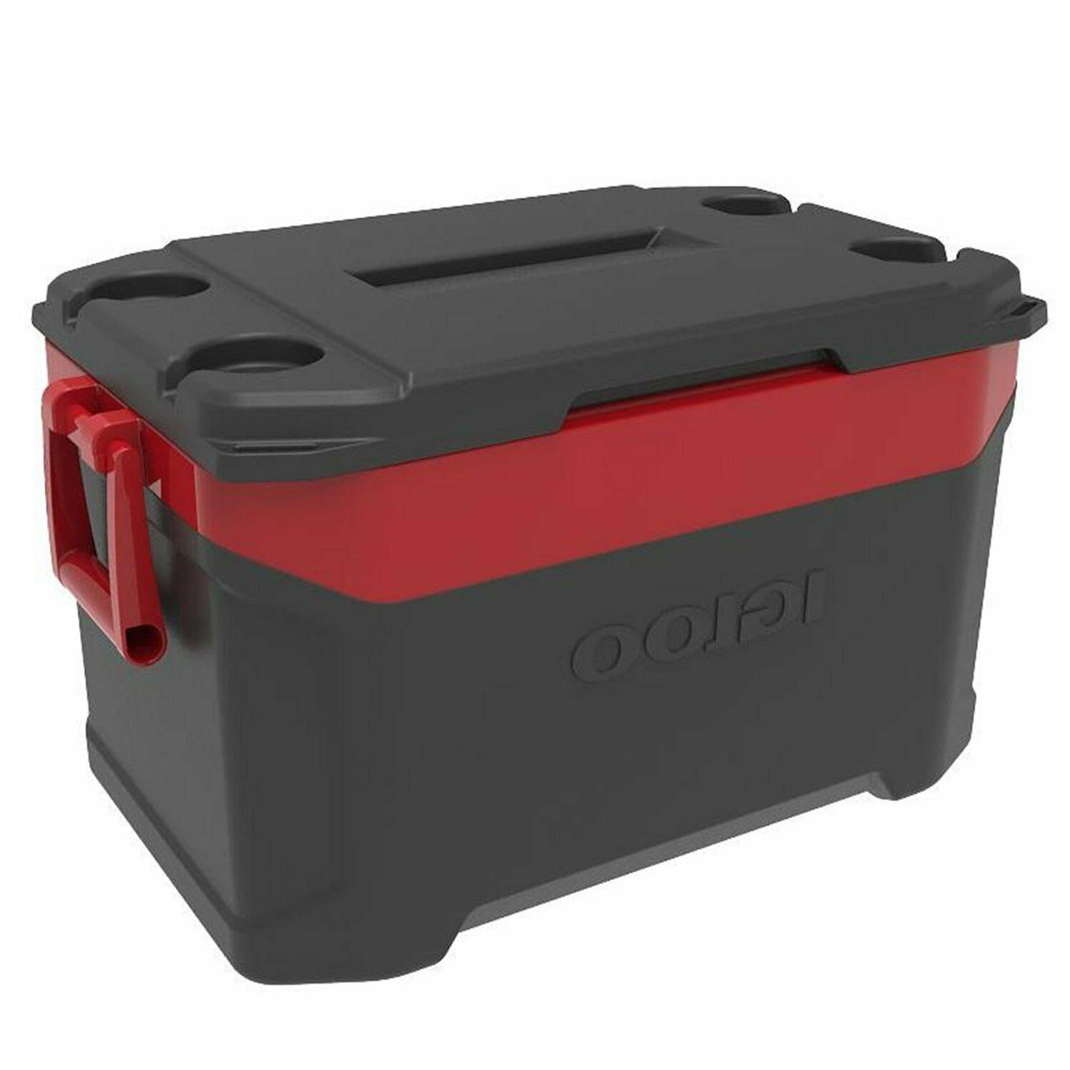 Igloo Latitude Ice Chest Cooler Jet Carbon Red Cold Camping