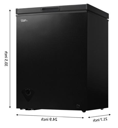 Mini Freezer Small Chest Storage Black Upright Open Top Mini