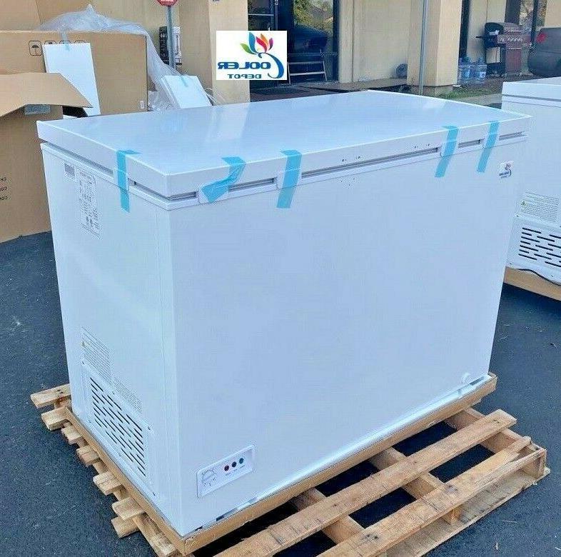 new 44 solid top lock chest freezer