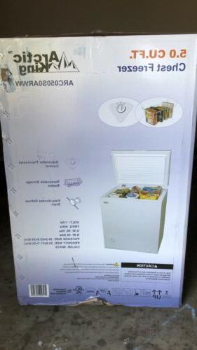 new 5 0 cu ft chest freezer