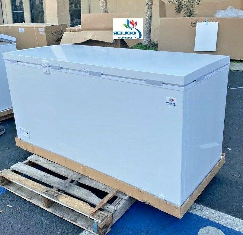 new 65 solid top lock chest freezer