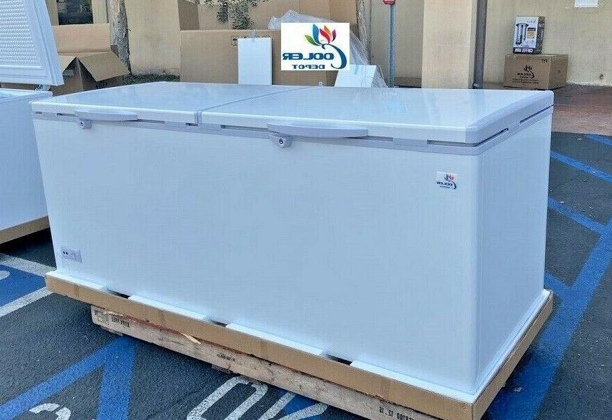 new 77 solid top lock chest freezer