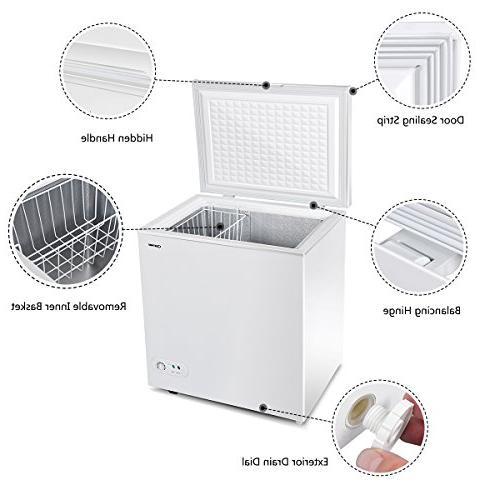 Costway Door Capacity Freezer Power Indicator and Basket