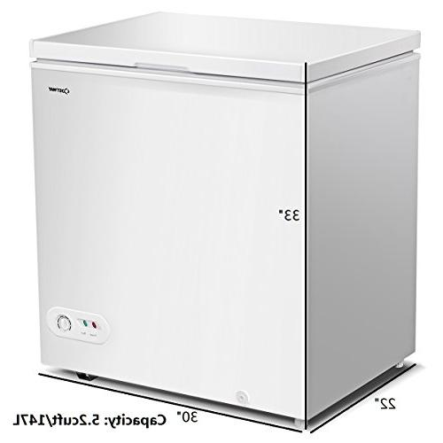 Costway Freezer 5.2 Cubic Capacity Freezer Power and Removable