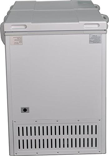 Smad Solar Powered with AC Cu ft,White