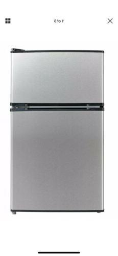 Midea WHD 113FSS Stainless Steel Refrigerator Freezer Warran