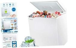 MOOSOO Chest Freezer 5.0 Cubic Feet, Deep Compact Freezer wi