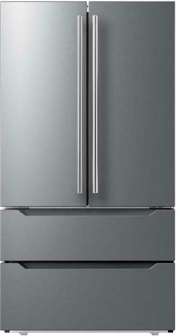 """Midea MRQ23B4AST 36"""" Stainless 22.4 cuft Drawer French 4-Doo"""