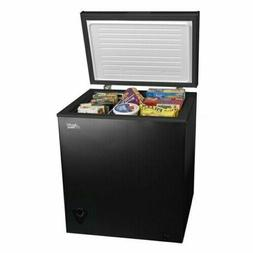 new 5 cu ft chest freezer black