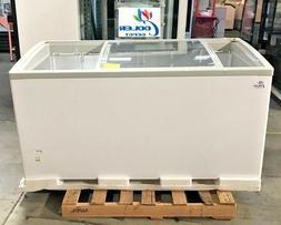 "NEW 60"" Ice Cream Glass Dipping Freezer Chest Showcase Displ"