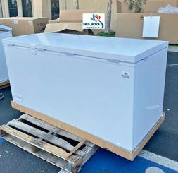 "NEW 65"" Solid Top Lock Chest Freezer Storage Cabinet NSF ETL"