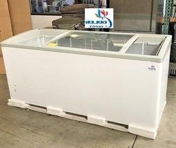 "NEW 72"" Ice Cream Glass Dipping Freezer Chest Showcase Displ"