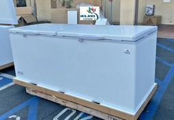 "NEW 77"" Solid Top Lock Chest Freezer Storage Cabinet NSF ETL"