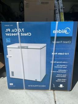 New   Midea MRC07M5AWW Chest Freezer, 7.0 Cubic Feet, White