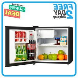 Single Reversible Door Mini Fridge Small Refrigerator 1.6 Cu