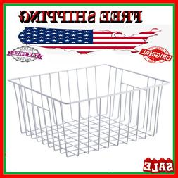 Storage Basket Chest Freezer Wire Regular White PE Coated St