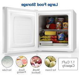 Upright Chest Freezer 1.1Cu Ft W/ Reversible Door Adjustable
