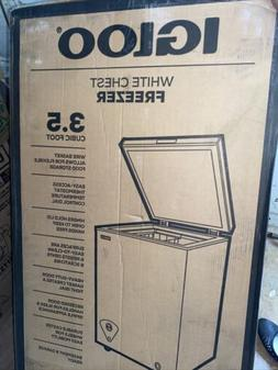 Igloo White Chest Freezer 3.5 Cubic Foot