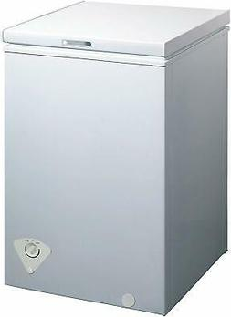midea WHS-129C1 Single Door Chest Freezer, 3.5 Cubic Feet, W